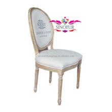high class white louis dinning chair