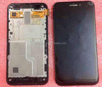 100% tested LCD Screen display+touch sreen Digitizer with frame For Asus Padfone 1 A66 black