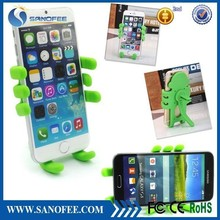 Top quality cartoon phone holder, lazy silicone mobile phone holder, car air vent holder