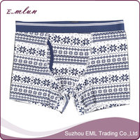 Eco-friendly mens front open underwear boxer