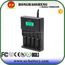 Universal 3.7v Li-ion/1.2v Nimh/ 3.2v Liifepo4 Battery Charger Soshine H4 Lcd Charger