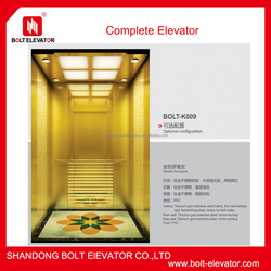 BOLT brand hotel and entertainment passenger elevator cost in china