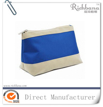 Natural cotton fabric cosmetic pouch