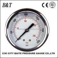 general stainless steel liquid-filled wika pressure gauge