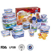 microwave plastic food storage container 16pcs gift promotion set