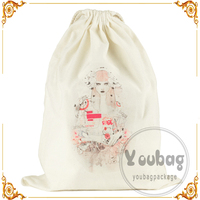 Canvas Drawstring Bag Printed School Bags Outdoor Sackpack Shopping Backpack