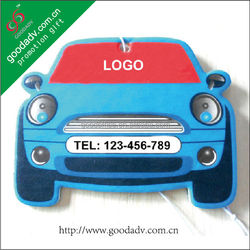Custom promotion gifts hanging paper car shape air freshener