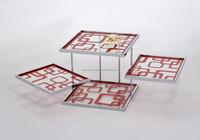 Fashion rotating glass coffee table