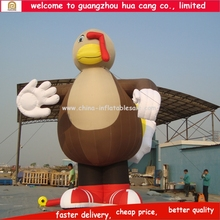 Guangzhou customized turkey inflatable cartoon, cartoon body inflation, inflatable advertising cartoon