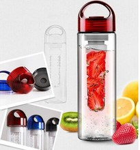 BPA free Double walled water bottle infuser 27oz sport filter bottle with filter and AS lid