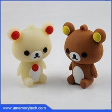 Cute teddy bear shape high quality usb flash drive new pen drive 64MB-64GB available