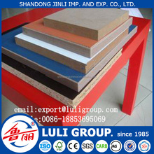 18mm and 3mm cherry Melamine MDF and melamine Medium Density Fiberboard and melamine particle board
