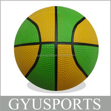 GY-D026 High quality cheap price rubber mini colorful printing basketball for chilren