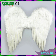 Halloween White Angel Feather Wings Fancy Dress Masquerade Fairy Wings