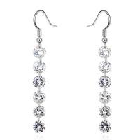 Charm Jewelry Wholesale China New Style Stud Stick Diamond Dangler Earrings