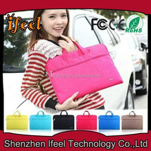 New Design Colorfiled Leather And Felt Zipper Bag For Ipad,New Style Tablet Zipper Felt Sleeve Case With Lining