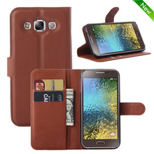 Factory price leather flip case cover for samsung galaxy e5