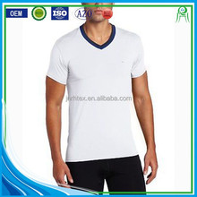China Manufacture Wholesale Custom White Plain No Brand T shirt