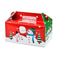 Snowman Christmas cupcake boxes cake box for new year(CZ-889)