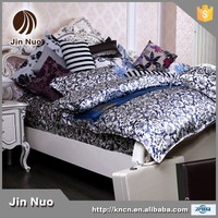 BLUE AND WHITE WHOLE SALE DOUBLE SIDE 100% SILK BEDDING SET