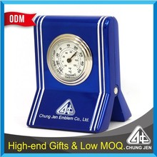 Premium clock function name card metal memo clip holders