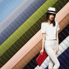 China textile 95% polyester 5% spandex fabric with thin stripe textile fabric