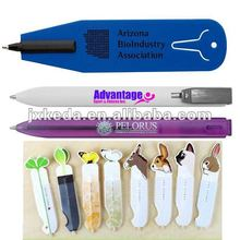 2014 Cheapest Plastic Flat Promotional Bookmark Pen With Rule