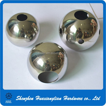 Brass & stainless steel ball with holes