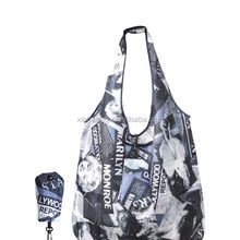 cheap supermarket shopping folding polyester bag with full print