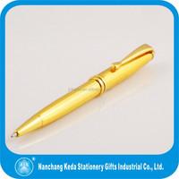 Golden luxury turning metal ball pen with logo printable