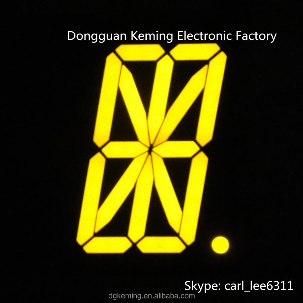2.3 inch led sign ultra yellow 14 segment display 16 segment led 1 digit