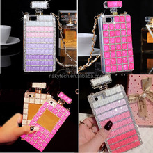 crystal design perfume bottle Bling Crystal Rhinestone Shell Case for iPhone 4/4s/5/5s/5c