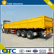 12.5m Length Side Wall Cargo Semi Trailer Tractor Truck Trailer For Sale