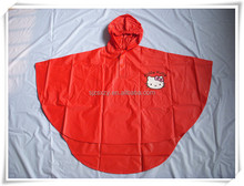 100% pvc rain poncho for kids