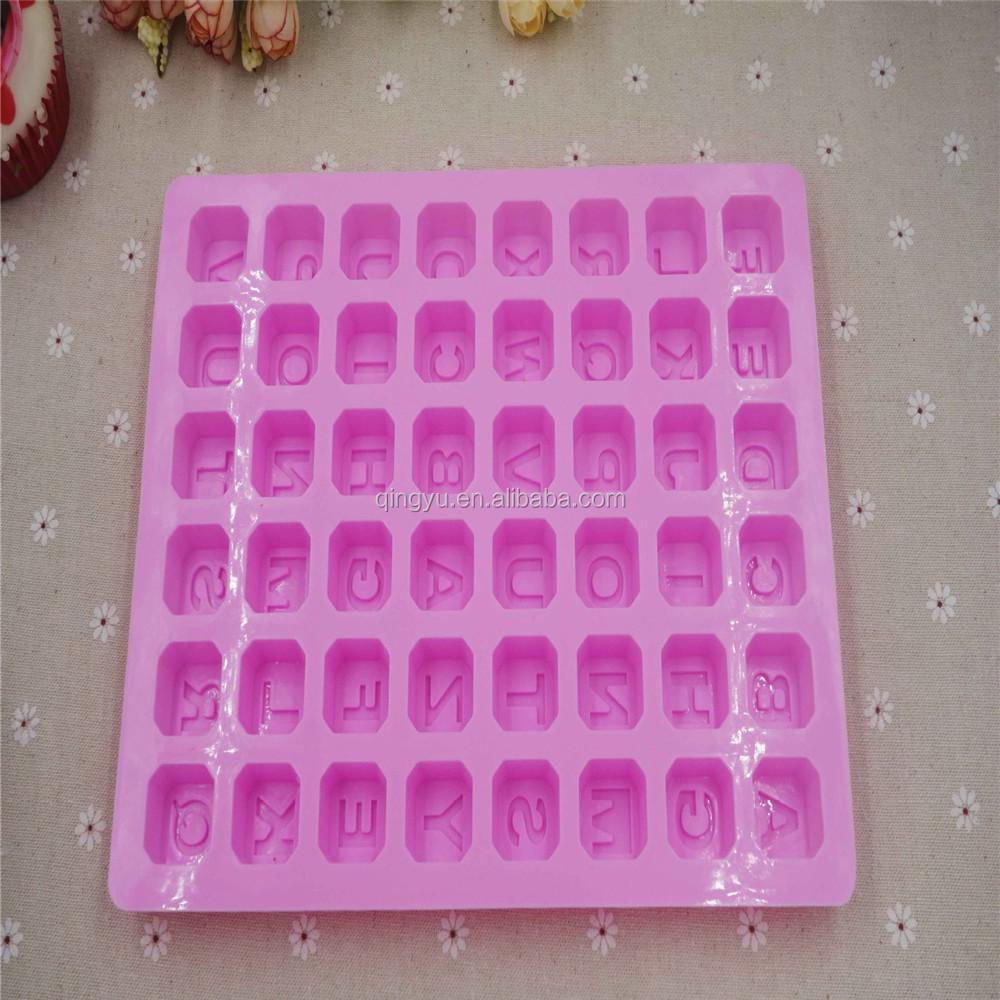 Cake Decorating Letter Cubes : Silicone Alphabet Letter Trays Chocolate Mold Cake Fondant ...