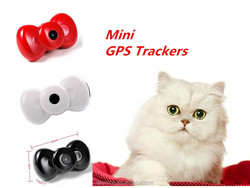 Mini Bow Tie MMS Video GSM/GPRS Locator Real Time Tracker for Pets Dogs Cats Tracking Hot Pet Product GPS Trackers
