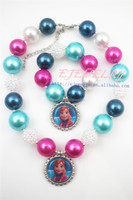 Sales promotion&High quality kid candy bead chunky jewelry set child toddler girls chunky necklace and bracelet sets