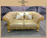 yellow classic furniture sofa, wooden furniture frames for upholstery, home furniture in cebu DXY-841#