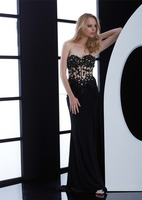 Sexy Strapless Appliques Beading Backless evening dresses for girls 12 year FXL-781