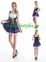 Halloween cosplay instyles Bavarian Beer Girl Maid Ladies Oktoberfest Waitress Fancy Dress Womens Costume sexy women