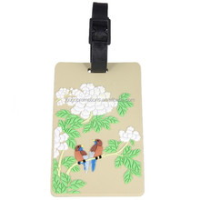 custom luggage tag, plastic luggage with protective cover