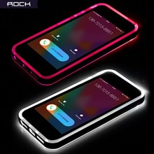 100% Real Rock Light Tube Series LED Flashing TPU & PC Phone Case for iPhone 5