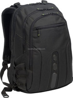 Durable strong quality Multi-compartment 17.3 inch waterproof nylon laptop business backpack bag with earphone outlet