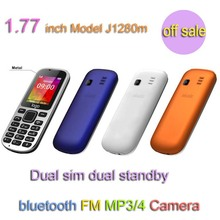 colorfull basic phone dual sim dual standby with bluetooth music player J1280m