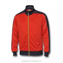 2015-16 season long sleeve red sport coat, thailand quality soccer jacket football wear