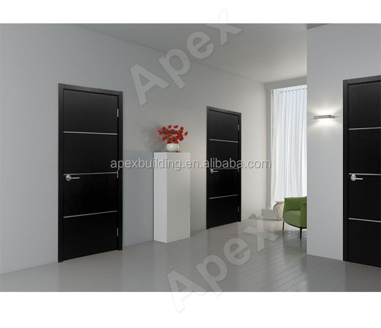 Black Ash Wood Door Interior Door Modern Simple Wood Door Buy