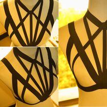 Caged Body Harness Bra Bondage Lingerie Black Gothic Club Erotic style bondage Womens harness garter wedding Rose with 2015 new