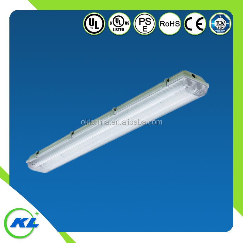 ul listed ip65 2ft 4ft flat ceiling light fixture t8