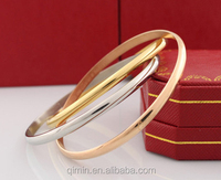 Alloy Rose and Gold Plated Bracelet Bangles for Women Wedding Jewelry Bracelet