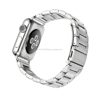 Apply to apple watch stainless steel strap 42 mm38mm metal strip Three beads belt contains connectors